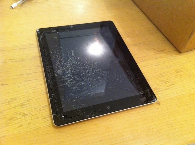 iPad with Shattered Screen