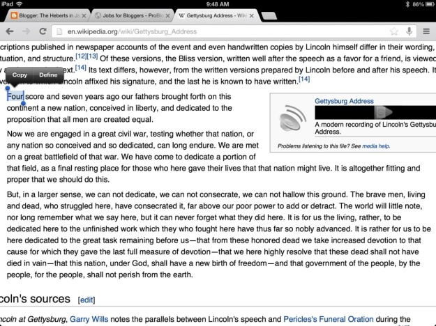 Gettysburg Address via Wikipedia.org