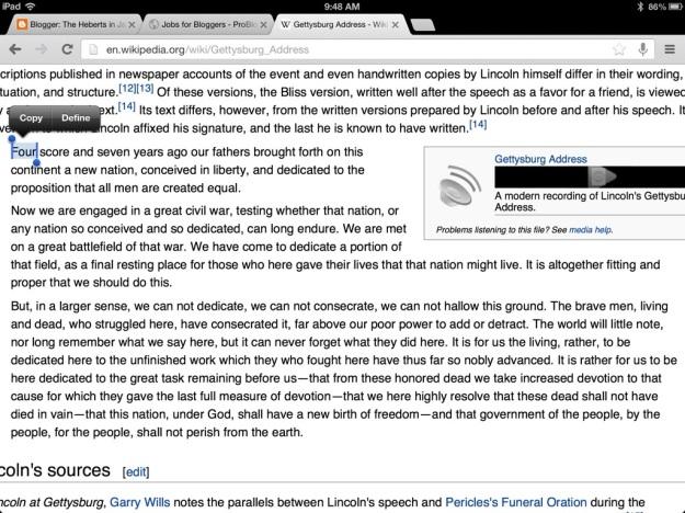 Gettysburg Address via Wikipedia.org